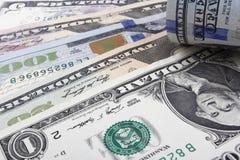 Τραπεζογραμμάτια αμερικανικών δολαρίων Στοκ Φωτογραφία