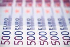 τραπεζογραμμάτια 500 ευρώ Στοκ Φωτογραφίες
