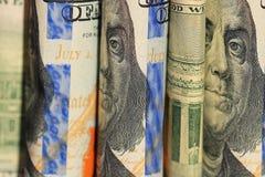Τραπεζογραμμάτια ΗΠΑ τεμαχίων Στοκ εικόνα με δικαίωμα ελεύθερης χρήσης