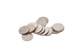 Τραπεζογραμμάτια και νομίσματα στο ταϊλανδικό νόμισμα μπατ Στοκ Εικόνες