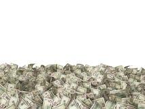 τραπεζογραμμάτια 5 δολαρίων στο έδαφος στο λευκό Στοκ Φωτογραφίες