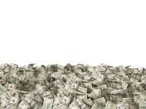 τραπεζογραμμάτια 100 δολαρίων στο έδαφος στο λευκό Στοκ Εικόνες