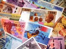Τραπεζογραμμάτια στην Αφρική Στοκ εικόνα με δικαίωμα ελεύθερης χρήσης