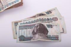 Τραπεζογραμμάτια της Αιγύπτου Στοκ Φωτογραφίες