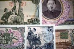 Τραπεζογραμμάτια της Βόρεια Κορέας στοκ εικόνες
