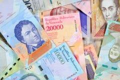 Τραπεζογραμμάτια bolívar της Βενεζουέλας, διαφορετική αξία Τα όμορφα ζωηρόχρωμα εμπρόσθια δευτερεύοντα bolivares κλείνουν επάνω τ στοκ φωτογραφίες με δικαίωμα ελεύθερης χρήσης