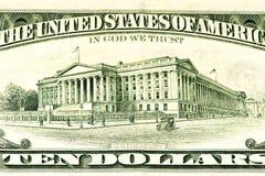 Τραπεζογραμμάτιο ΑΜΕΡΙΚΑΝΙΚΟΥ νομίσματος Στοκ εικόνα με δικαίωμα ελεύθερης χρήσης