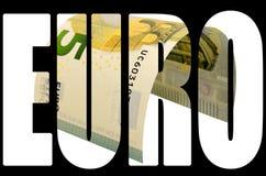 Τραπεζογραμμάτιο πέντε ευρώ που απομονώνεται στο άσπρο υπόβαθρο Στοκ εικόνα με δικαίωμα ελεύθερης χρήσης