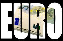 Τραπεζογραμμάτιο πέντε ευρώ που απομονώνεται στο άσπρο υπόβαθρο Στοκ φωτογραφία με δικαίωμα ελεύθερης χρήσης