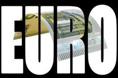Τραπεζογραμμάτιο πέντε ευρώ που απομονώνεται στο άσπρο υπόβαθρο Στοκ Εικόνα
