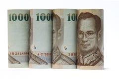 Τραπεζογραμμάτιο της Ταϊλάνδης χιλίων μπατ Στοκ Εικόνες