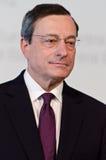 τραπεζών κεντρικός Πρόεδρος του Mario draghi ευρωπαϊκός Στοκ Φωτογραφίες