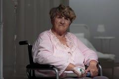 Τραυματισμένη λυπημένη γυναίκα Στοκ Εικόνες