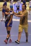 Τραυματισμένος φορέας χάντμπολ στοκ εικόνα