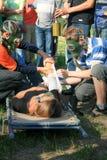 τραυματισμένος Στοκ φωτογραφία με δικαίωμα ελεύθερης χρήσης