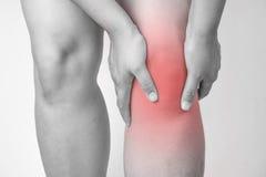 Τραυματισμός γονάτου στους ανθρώπους πόνος γονάτων, κοινό πόνων κυριώτερο σημείο τόνου ανθρώπων ιατρικό, μονο στο γόνατο Στοκ φωτογραφίες με δικαίωμα ελεύθερης χρήσης