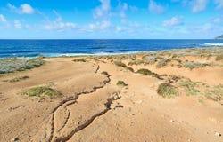 Τραχιά θάλασσα από Argentiera την ακτή Στοκ εικόνες με δικαίωμα ελεύθερης χρήσης
