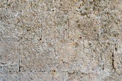 Τραχιά σύσταση ενός παλαιού τοίχου πετρών Στοκ Εικόνες