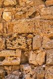 Τραχιά σύσταση ενός τούβλου πετρών Στοκ εικόνες με δικαίωμα ελεύθερης χρήσης