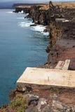 Τραχύς απότομος βράχος της Χαβάης στοκ φωτογραφία με δικαίωμα ελεύθερης χρήσης