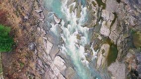 Τραχύς ποταμός βουνών απόθεμα βίντεο
