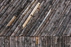 Τραχύς τοίχος ξύλων Συστάσεις υποβάθρου στοκ εικόνες με δικαίωμα ελεύθερης χρήσης