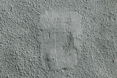 Τραχύς τοίχος που καλύπτεται με το ασβεστοκονίαμα και που χρωματίζεται Στοκ Φωτογραφία