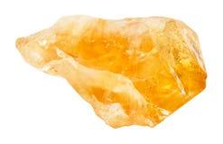 Τραχύ κρύσταλλο του ψευδοτοπαζιακού πολύτιμου λίθου που απομονώνεται Στοκ φωτογραφίες με δικαίωμα ελεύθερης χρήσης