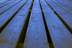 Τραχύ μπλε κιτρινωπό καφετί πνεύμα σκηνικού υποβάθρου λουλακιού ξύλινο Στοκ Εικόνες