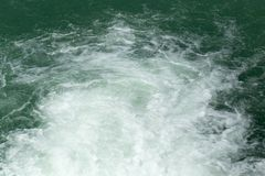 Τραχύ νερό στην επιφάνεια Στοκ φωτογραφίες με δικαίωμα ελεύθερης χρήσης
