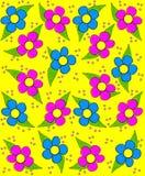 Τραχύ σκίτσο στις μαργαρίτες κίτρινες Στοκ Εικόνα