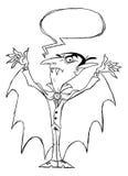 Τραχύ σκίτσο τεράτων βαμπίρ Dracula Στοκ Φωτογραφία