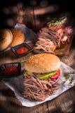 Τργμένο χάμπουργκερ χοιρινό κρέας Στοκ Φωτογραφία