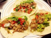 Τργμένο χοιρινό κρέας Tacos στοκ εικόνα με δικαίωμα ελεύθερης χρήσης