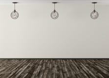 Τρεις λαμπτήρες ενάντια της μπεζ τρισδιάστατης απόδοσης υποβάθρου τοίχων διανυσματική απεικόνιση