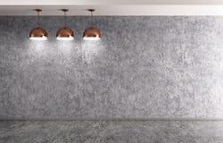 Τρεις λαμπτήρες πέρα από την τρισδιάστατη απόδοση συμπαγών τοίχων απεικόνιση αποθεμάτων