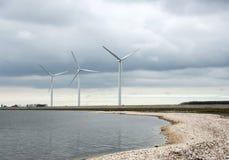 τρεις ανεμόμυλοι Στοκ φωτογραφία με δικαίωμα ελεύθερης χρήσης