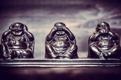 Τρεις αριθμοί της φιλοσοφίας Buddah Στοκ Εικόνες