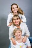 Τρεις γενεές με μια εντυπωσιακή ομοιότητα Στοκ φωτογραφίες με δικαίωμα ελεύθερης χρήσης