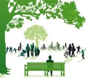 Τρεις γενεές στο πάρκο Στοκ εικόνες με δικαίωμα ελεύθερης χρήσης