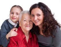 Τρεις γενεές των γυναικών Στοκ εικόνες με δικαίωμα ελεύθερης χρήσης