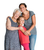 Τρεις γενεές των γυναικών Στοκ φωτογραφία με δικαίωμα ελεύθερης χρήσης