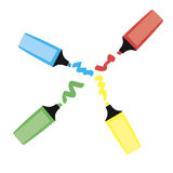 Τρεις δείκτες χρώματος. Διανυσματική απεικόνιση Στοκ φωτογραφίες με δικαίωμα ελεύθερης χρήσης