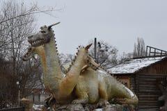Τρεις-διευθυνμένος νεράιδα δράκος Gorynych στοκ φωτογραφία με δικαίωμα ελεύθερης χρήσης
