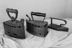Τρεις εκλεκτής ποιότητας σίδηροι Στοκ εικόνα με δικαίωμα ελεύθερης χρήσης