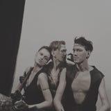 Τρεις εκτελεστές τσίρκων στοκ φωτογραφία