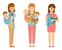 Τρεις ευτυχείς μητέρες Στοκ εικόνα με δικαίωμα ελεύθερης χρήσης