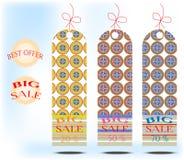 Τρεις ζωηρόχρωμες κάρτες Στοκ εικόνα με δικαίωμα ελεύθερης χρήσης