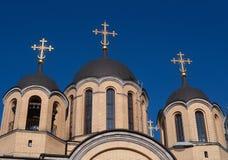 Τρεις θόλοι Ορθόδοξων Εκκλησιών στοκ φωτογραφία με δικαίωμα ελεύθερης χρήσης