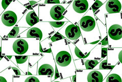 Χρήματα τρισδιάστατα Στοκ Φωτογραφίες